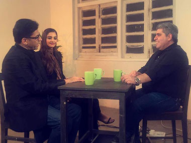 Rajeev Masand, Sonam Kapoor and Ram Madhvani. Firstpost