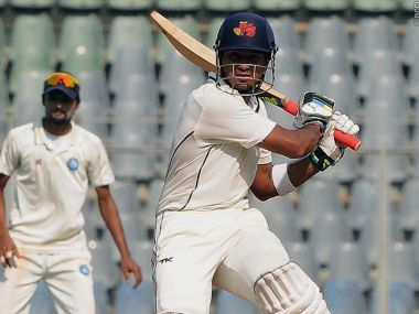 Aditya Tare in action during the current Ranji Trophy campaign. Image: @BCCIDomestic