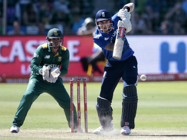 Alex Hales fell one short of his century as England beat South Africa. AFP