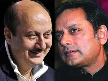 Anupam Kher and Shashi Tharoor in file photos. Ibnlive