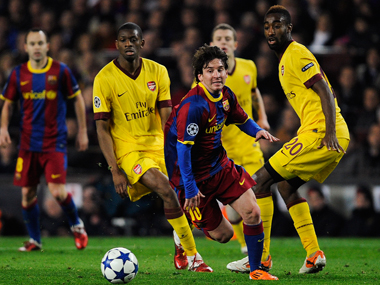 File image from Arsenal Barcelona match. Getty