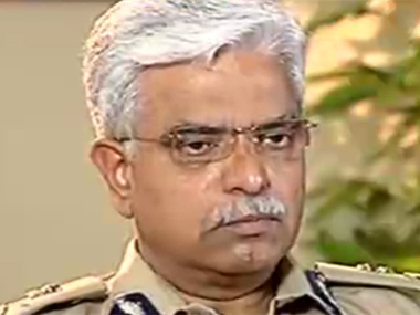 Delhi Police Commissioner BS Bassi. Image courtesy CNN-IBN screengrab