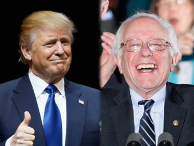 Bernie Sanders and Donald Trump. Reuters