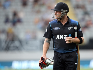 Brendon McCullum after his last ODI innings. AFP