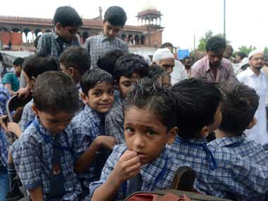 School students in Delhi. Representational image. AFP