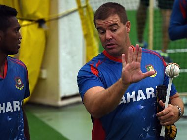 File picture of Heath Streak (R). AFP