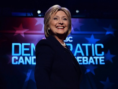 File image of US Democratic presidential candidate Hillary Clinton. AFP