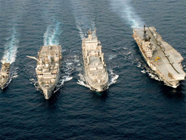 Preparing for International Fleet Review. Image courtesy PIB
