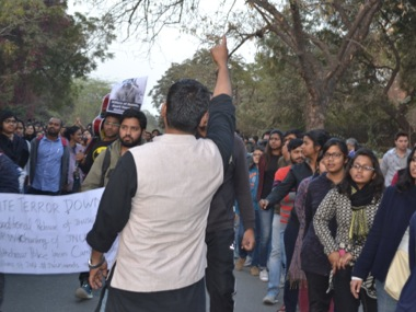 Protests at JNU in Delhi. Tarique Anwar/Firstpost