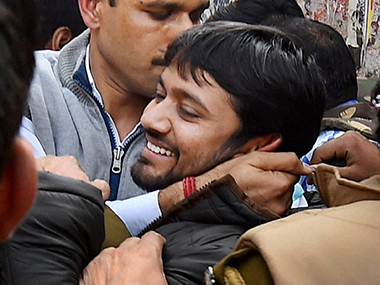 JNU students' union leader Kanhaiya Kumar. PTI