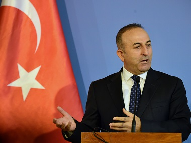File image of Turkish foreign minister Mevlut Cavusoglu. AFP