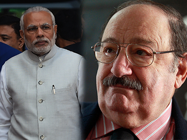 PM Narendra Modi (left) and Umberto Eco. Agencies