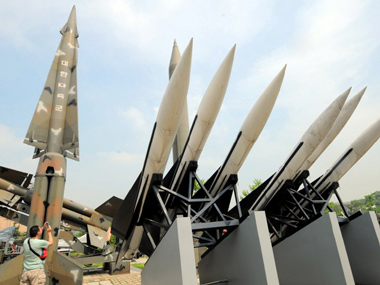 A North Korean missile replica. AFP