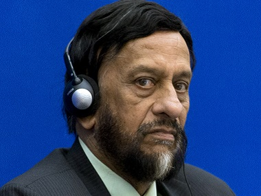 RK Pachauri in a file photo. AFP