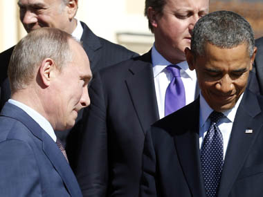File image of Russian President Vladimir Putin and US President Barack Obama. Reuters