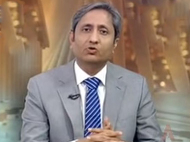 Senior journalist Ravish Kumar. Image courtesy: Screengrab