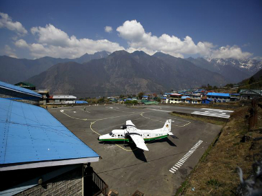 A twin otter aircraft belonging to Tara Air is pictured at Tenzing Hillary Airport, in Lukla, Nepal. Representational image. Reuters