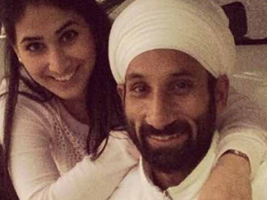 Sardar Singh and Ashpal Kaur Bhogal. Image courtesy: Twitter