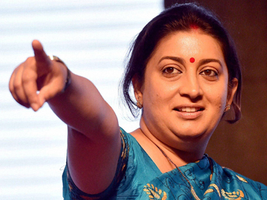 Smriti Irani. File photo. PTI