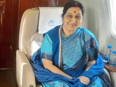 Sushma Swaraj heads to Sri Lanka. Twitter @MEAIndia