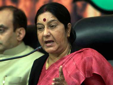 Union External Affairs Minister Sushma Swaraj. PTI