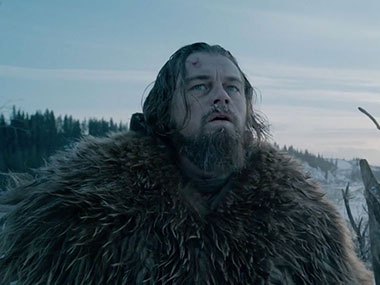 Leonardo DiCaprio in The Revenant. Screengrab from YouTube