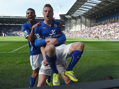 Jamie Vardy and Riyad Mahrez have been the engines driving Leicester City. Getty
