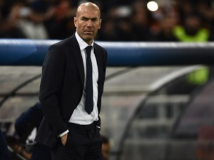 Real Madrid manager, Zinedine Zidane. AFP