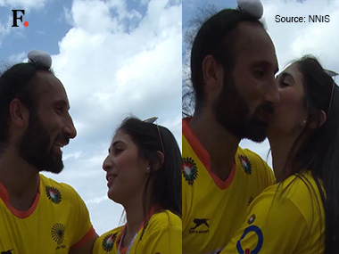 Sardar Singh and Ashpal Kaur Bhogal in a screengrab from the video.