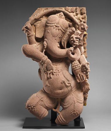 Screenshot of a 10th century 'Dancing Ganesha' from the Met website