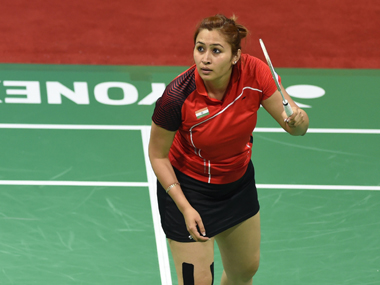 File photo of Jwala Gutta. AFP