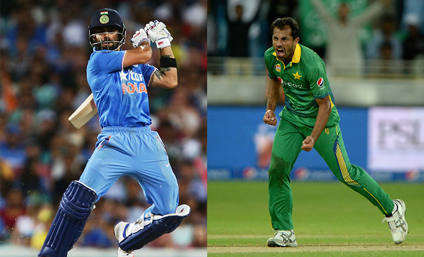 Virat Kohli loves a battle. So does Wahab Riaz. Getty Images