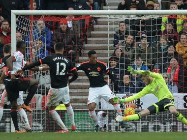 David de Gea couldn't stop Sunderland from scoring a late winner. AFP