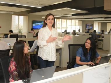Nita Ambani at the new open office