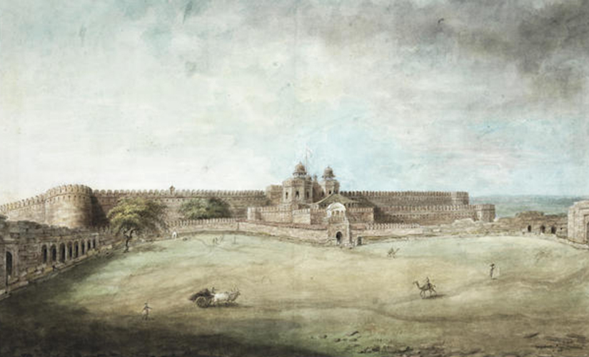 Agra Fort, from the East, attributed to Sita Ram and painted circa 1815, estimated at £15,000-20,000