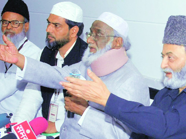 Members of the All India Muslim Personal Law Board. File photo. PTI