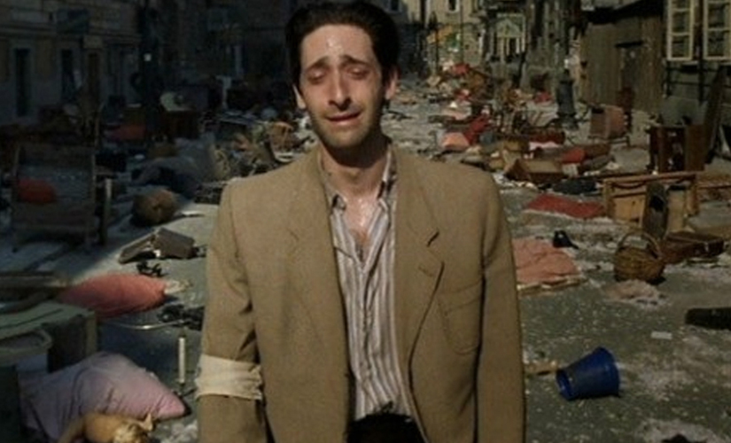 Adrien Brody in The Pianist. Screen grab from YouTube