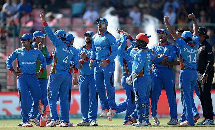 The Afghanistan cricket team. Getty Images