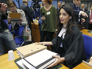 A file photo of Amal Clooney. Reuters