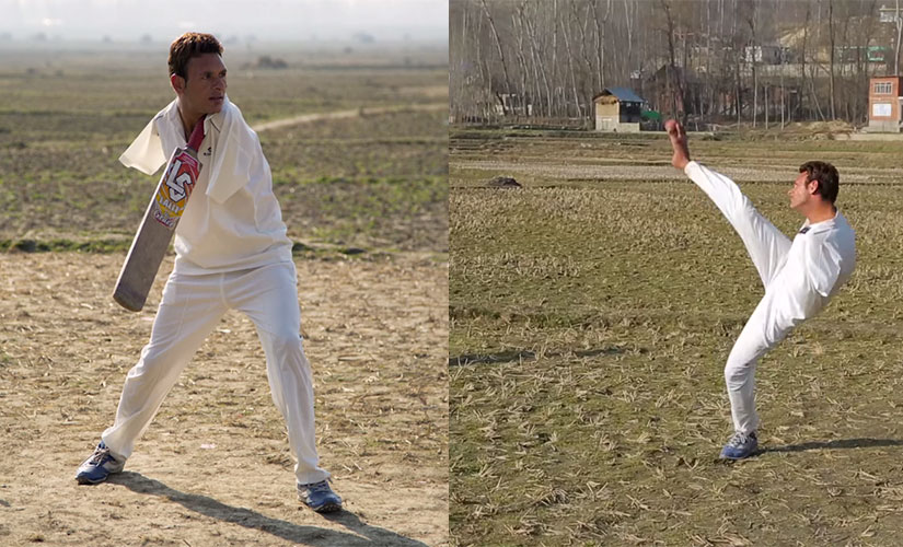Amir Hussain, lost both his arms as a kid, but that has not stopped him from being an all-rounder in cricket. Image: Youtube screengrab