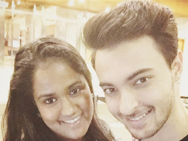 Arpita Khan with Ayush Sharma. Image from IBNlive