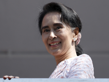 Aung San Suu Kyi in a file photo. Reuters