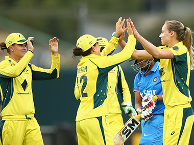 Ellyse Perry of Australia (right) in a file picture. Getty Images