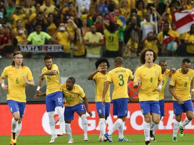 Brazil football team. AP