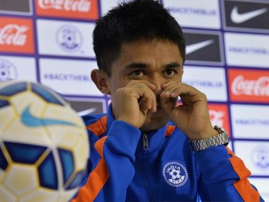 Indian captain, Sunil Chhetri. GettyImages
