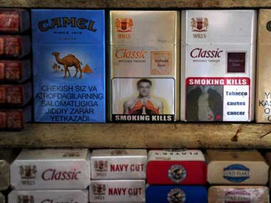 Pictorial warnings on cigarette packets. AFP