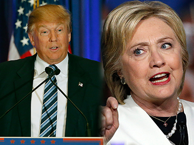 Donald Trump and Hillary Clinton in file images. AFP