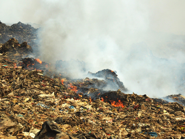 Locals are angry at the government for its allegedly slow response to the Deonar fire. Solaris Images