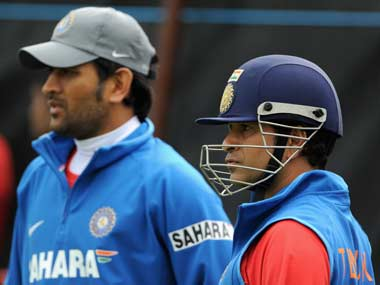 Sachin Tendulkar and MS Dhoni. Getty