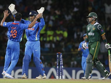 MS Dhoni wouldn't want to become the first Indian captain to lose a World Cup match against Pakistan. AP